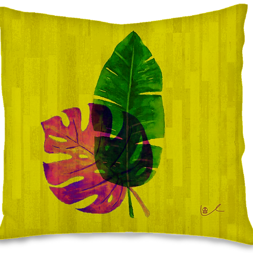 'Tropical Leaves' Pillow