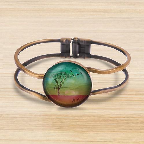 'I Bless the Plains' Bezel Hinge Bracelet