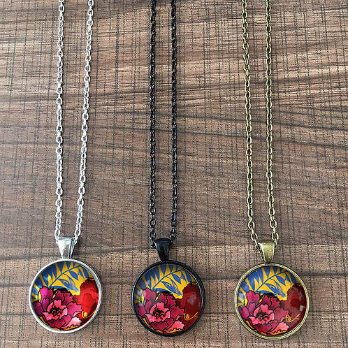 'Peony and Palm' Necklace