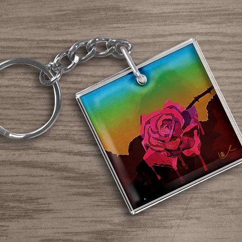 'Weeping Rose' Keychain