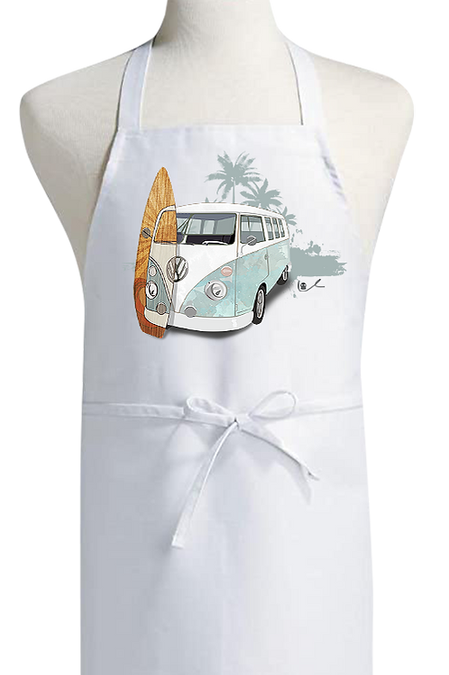 'Surf City in Retrograde' Bib Apron