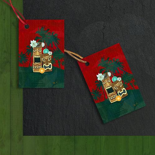 'Christmas in Tikiland' Gift Tags / 12 pcs