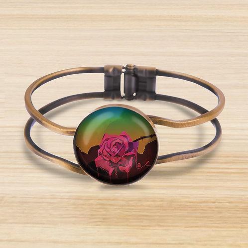 'Weeping Rose' Bezel Hinge Bracelet