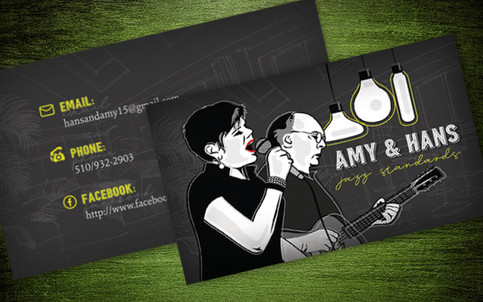 Jazz Duo Business Card Design