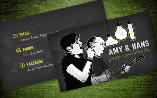 Jazz Duo Business Card Design