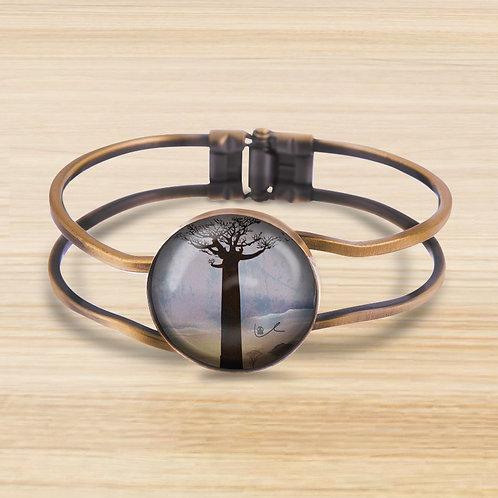 'A Lonely Boab' Bezel Hinge Bracelet