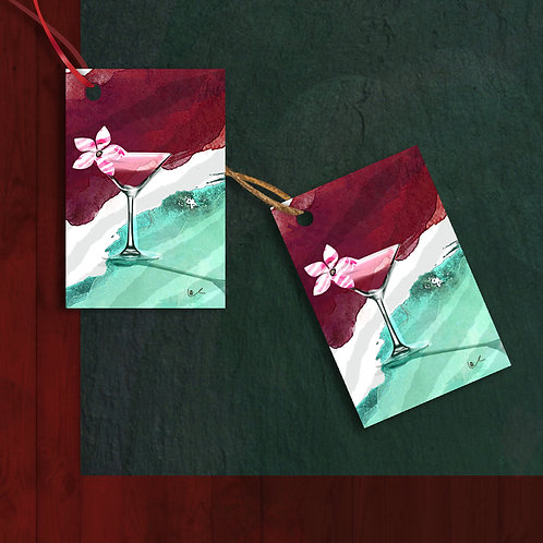 'Cosmopolitan Christmas' Gift Tags / 12pcs