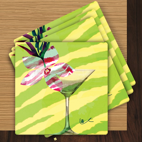 'Cosmo in Paradise' Gift Coasters