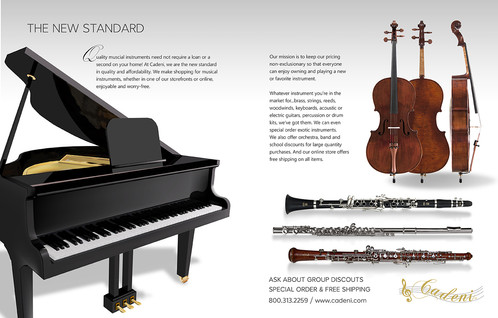 Classical Musical Instruments Brochure Spread