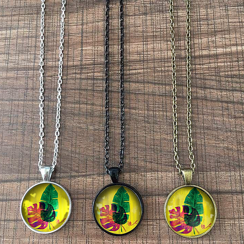 'Tropical Leaves' Necklace