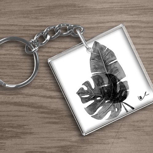 'Tropical Leaves' Keychain