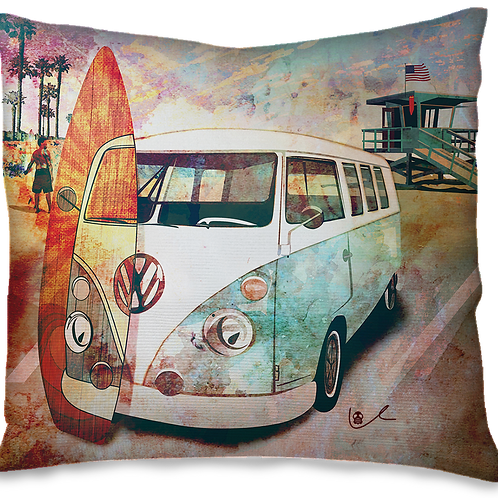 'Surf City in Retrograde' Pillow