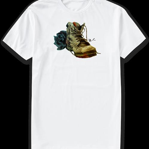 'Black Boot Bloody Rose' Men's T-Shirt