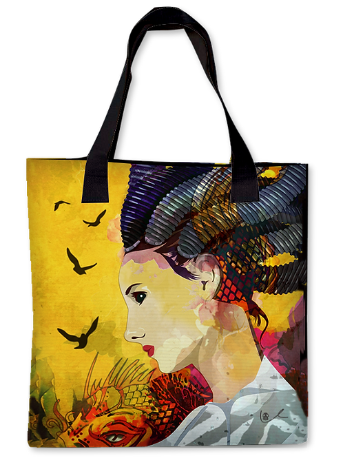 'Cleaning House / Koi Edition' Canvas Tote
