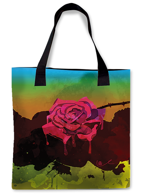'Weeping Rose' Canvas Tote