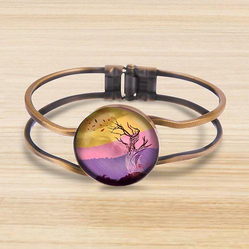 'Supplication and Freedom' Bezel Hinge Bracelet