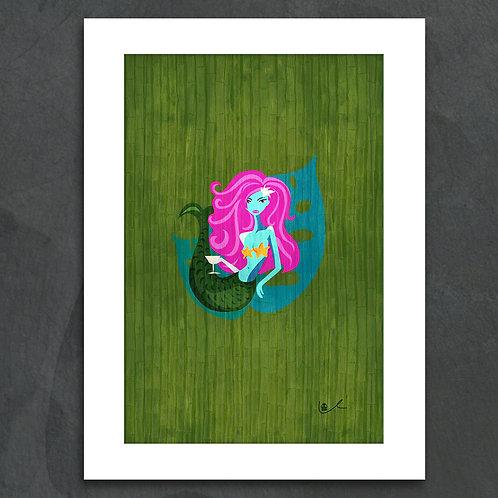 'Mermaid Takes a Holiday' Notecard