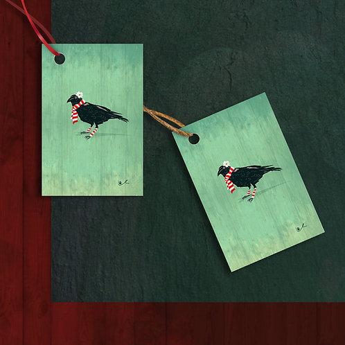 'Corvid's First Christmas' Gift Tags / 12pcs