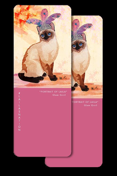 'Portrait of Laila / Glam Grrrl' Bookmarks