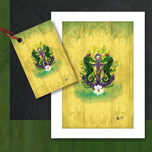 'Sovereign Seahorses' Card + Tag Bundle / 24pcs