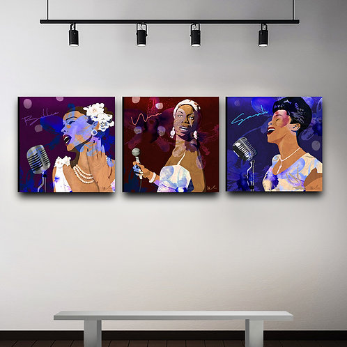 'First Ladies of Jazz' Triptych