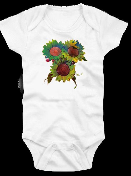 'Groovy Sunflowers' Baby Onesie