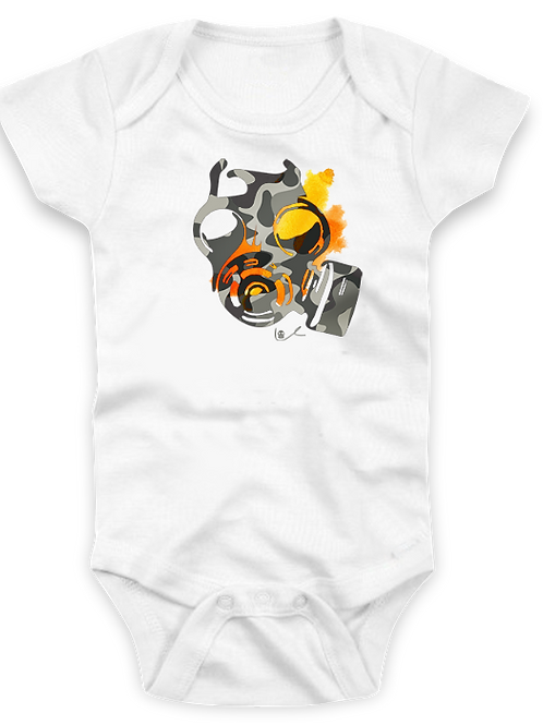 'Beauty Mask' Baby Onesie