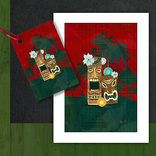 'Christmas in Tikiland' Card + Tag Bundle / 24pcs