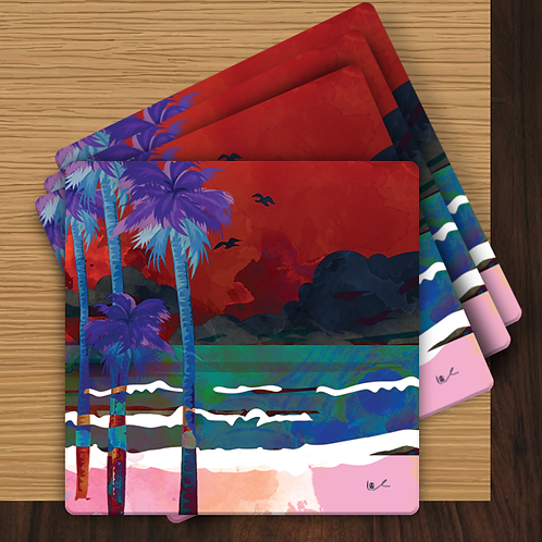 'Tropical Storm' Gift Coasters