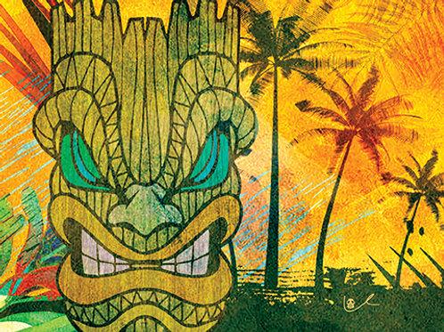 'Tiki Beach' Notecard