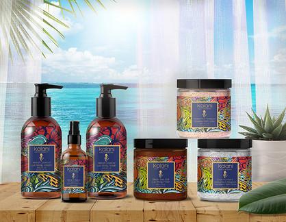 Kalani Skin Care Packaging