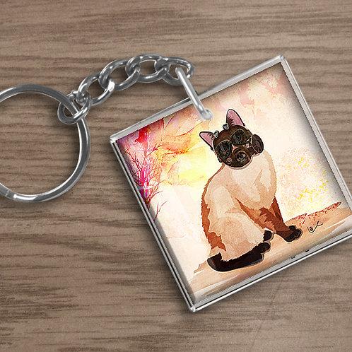 'Portrait of Laila' Keychain
