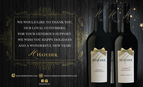 Hatcher Winery Holiday Ad