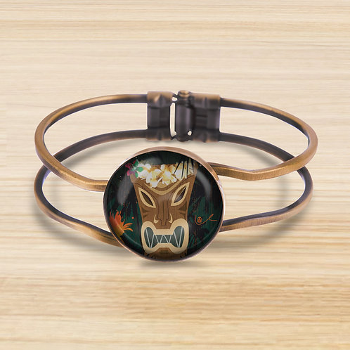'Tiki Couture' Bezel Hinge Bracelet