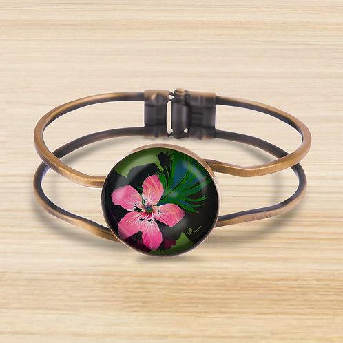 'Tropicale / Dramatic' Bezel Hinge Bracelet
