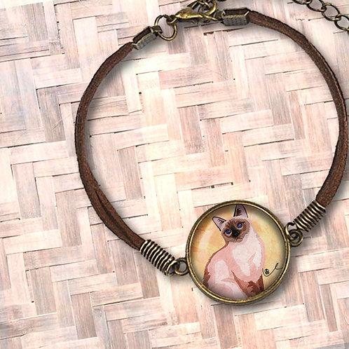 'Just Layla' Leather Bezel Bracelet