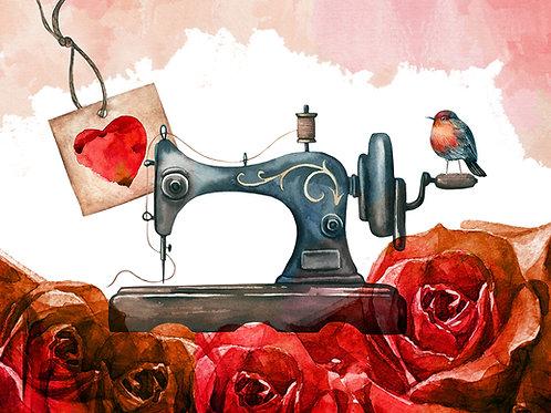 'Love2Sew' Notecard