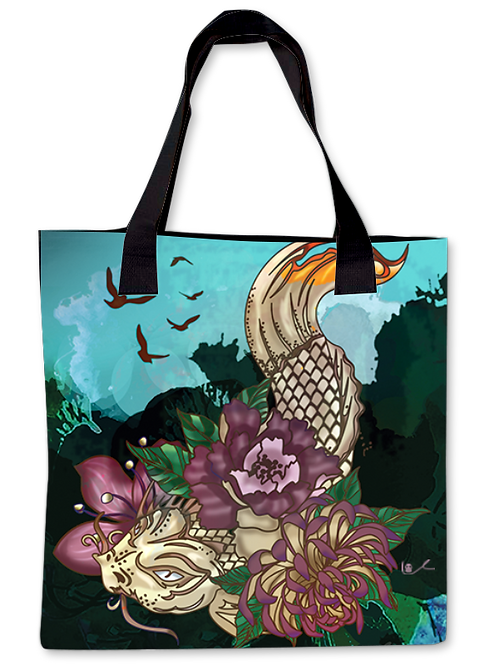 'Much Koi' Canvas Tote