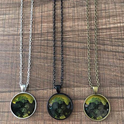 'Ginkgo / Dark' Necklace
