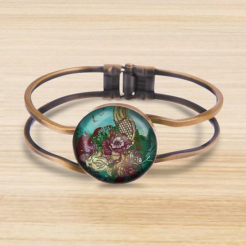 'Much Koi' Bezel Hinge Bracelet