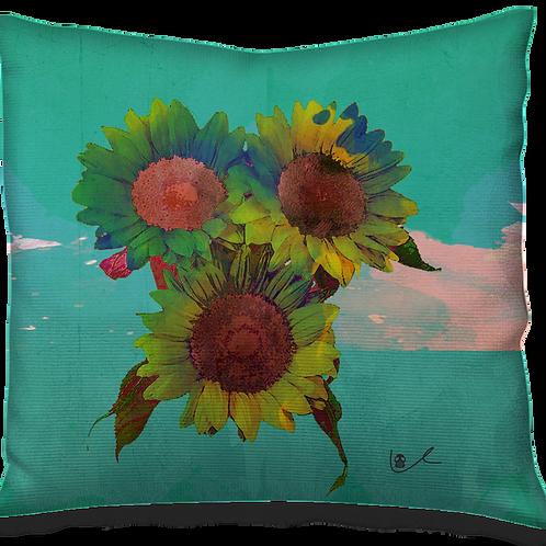 'Psilocyben Sunflowers' Pillow