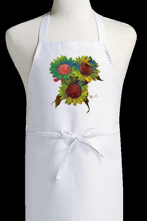 'Psilocyben Sunflowers' Bib Apron
