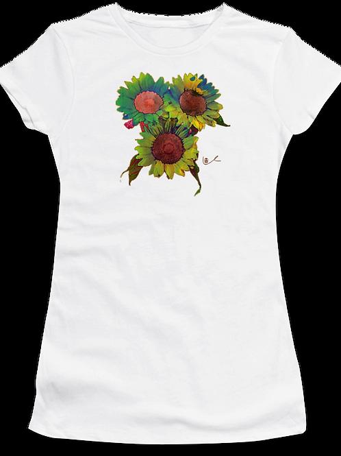 'Psilocyben Sunflowers' Womens T-Shirt