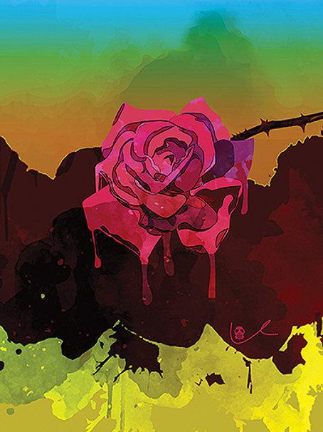 'Weeping Rose' Notecard