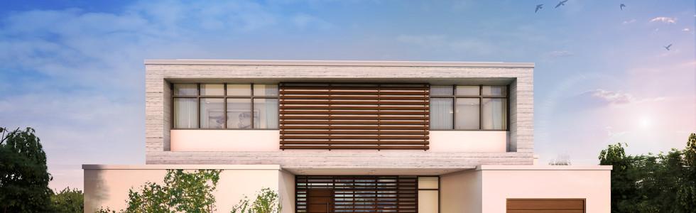 600 - front view- dark wood bronze frame
