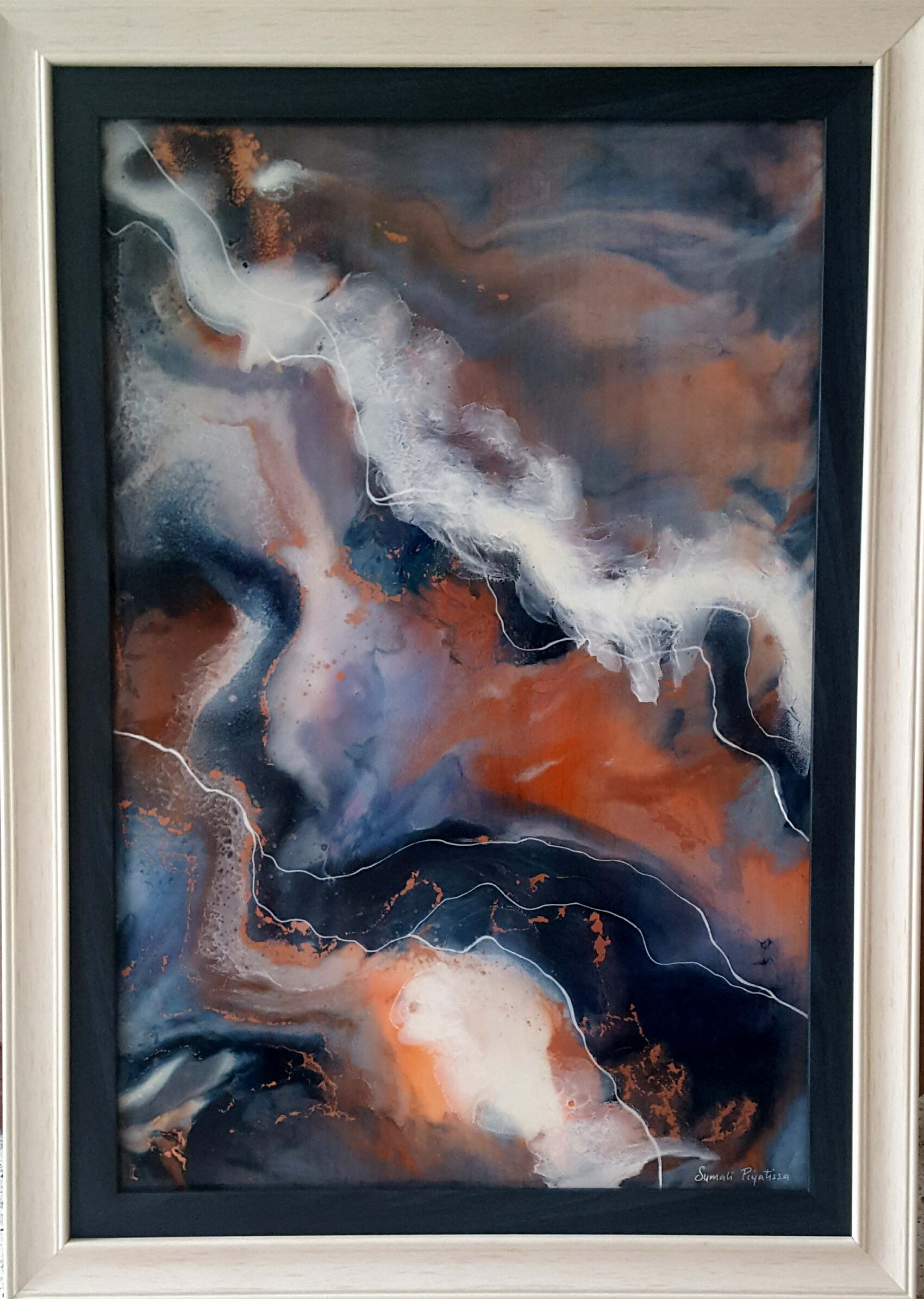 Abstract art on Resin