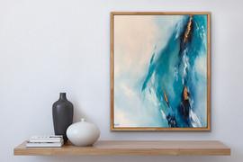 Dancing waters - Framed