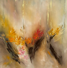 Floral abstract on oils