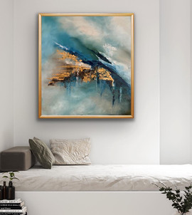 Abstract artwork on oils