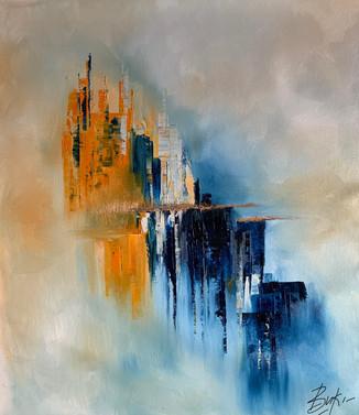 Abstract art on oil